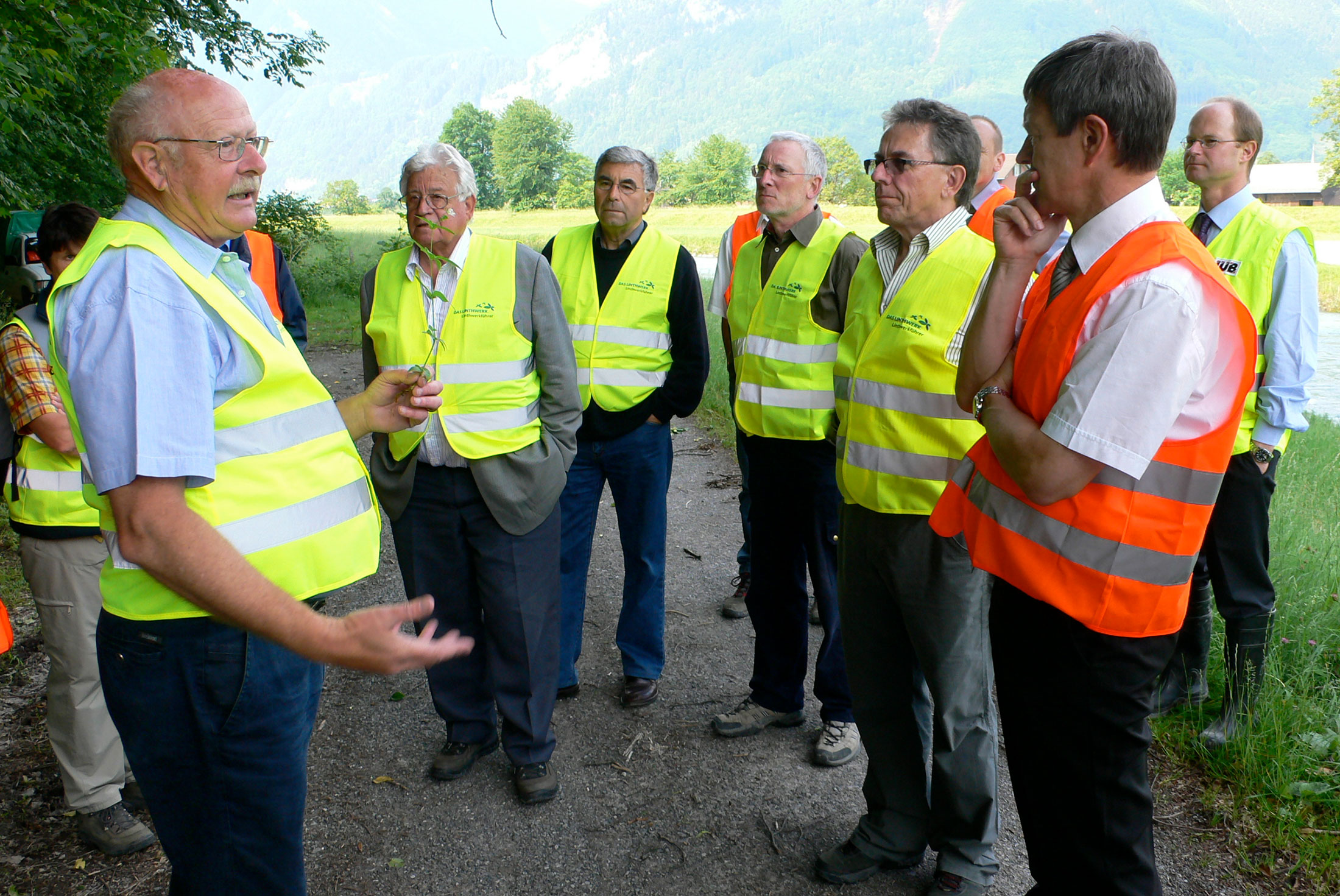 Baustellenbesuch der Linthkommission